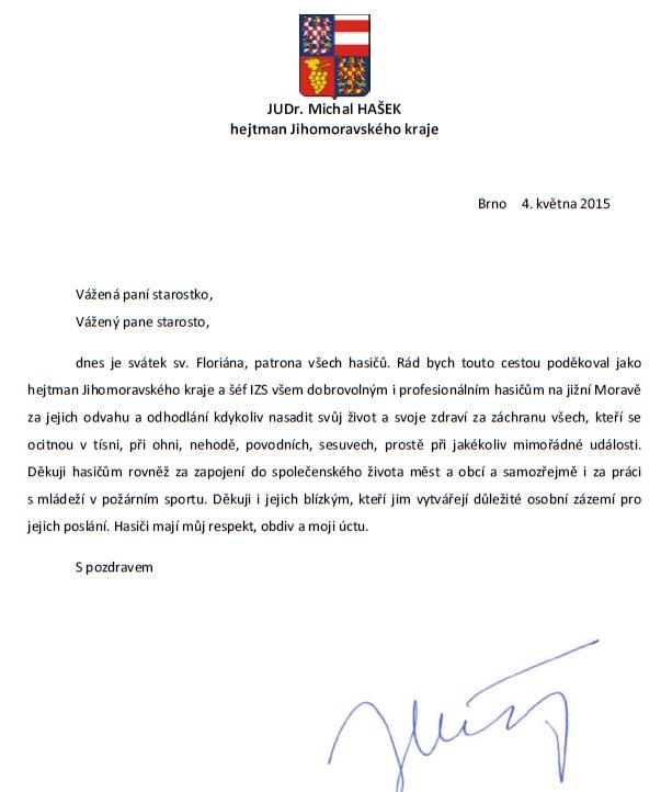 dopis hašek